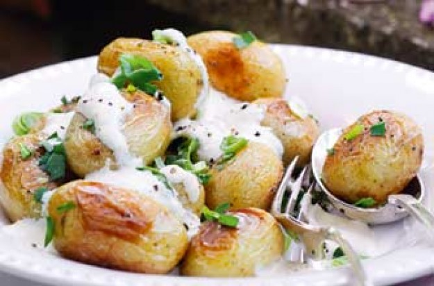 Essentials magazine, roasted tarragon potatoes