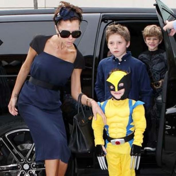 Cruz Beckham dressed as Wolverine