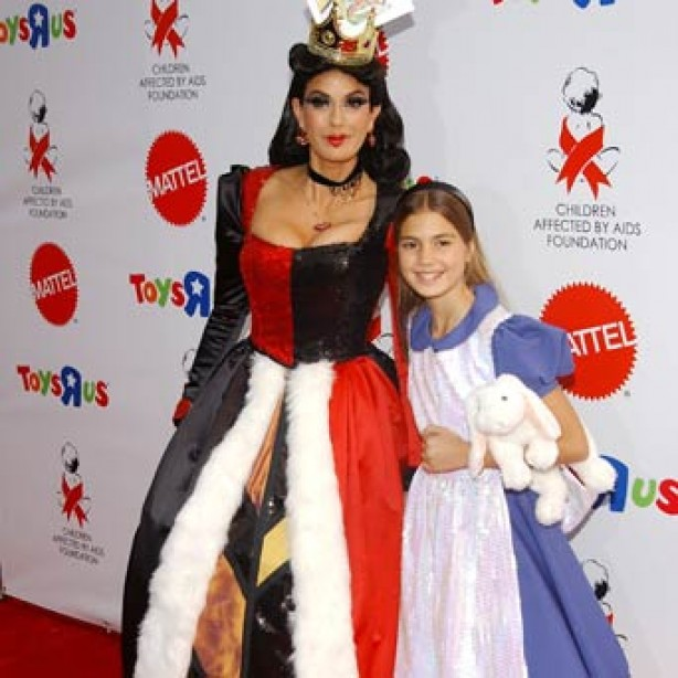 Teri Hatcher and her daughter Emerson Rose in fancy dress