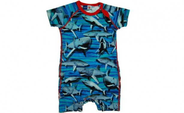 shark romper, baby clothes