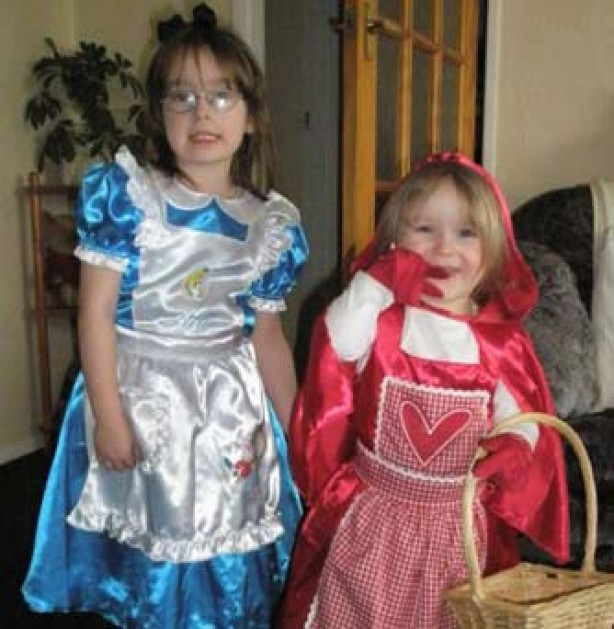 Your fancy dress pictures: Abigail and Caitlin