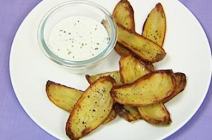 Gizzi Erskine's potato wedges recipe from Cook Yourself thin