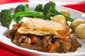 The Hairy Bikers' steak and ale pie, England, World Cup recipe