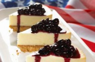 Hairy Bikers' blueberry cheesecake, USA World Cup recipe