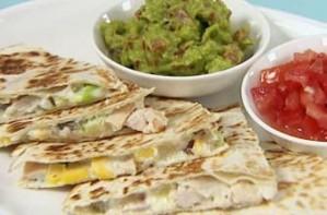 Gizzi Erskine's chicken and mango quesadilla, Cook Yourself Thin recipe