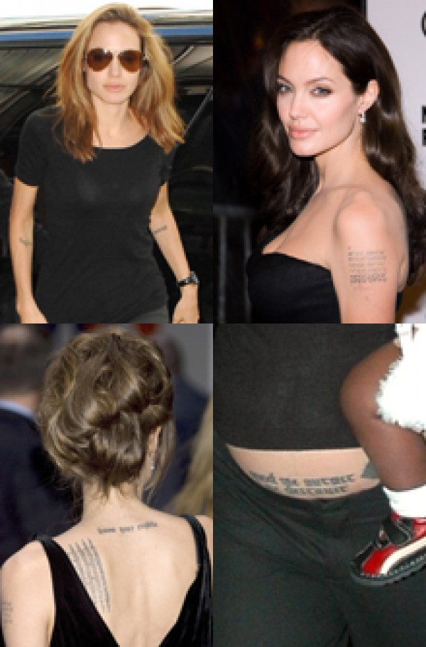 Angelina Jolie, celebrity tattoo, tattoo