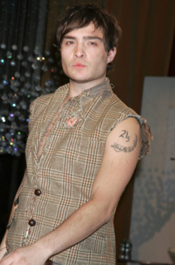 Ed Westwick, celebrity tattoo, tattoo