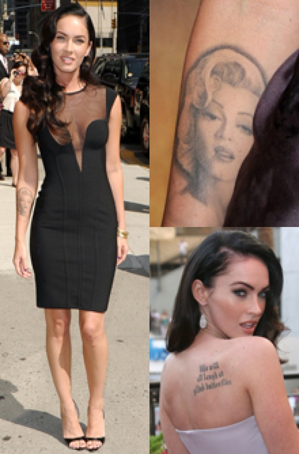 Megan Fox, celebrity tattoo, tattoo