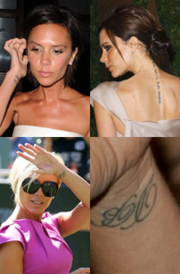 Victoria Beckham, celebrity tattoo, tattoo