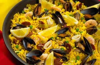 Hairy Bikers' Spanish paella for the World Cup