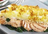 Salmon and brocolli bake recipe