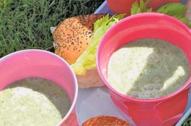 Cool green summer soup
