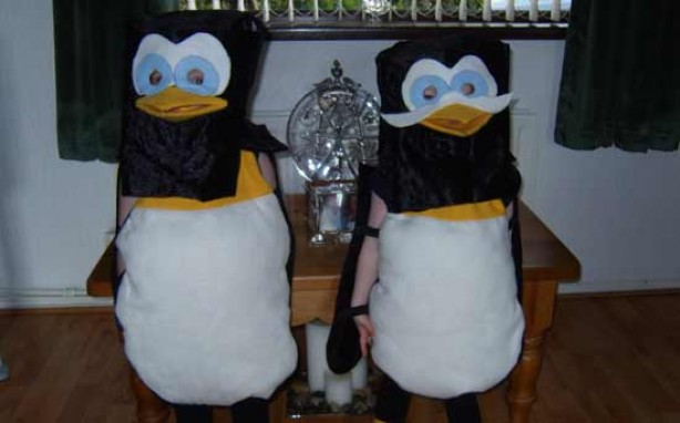 Your fancy dress pics: Christina and Aaron as penguins