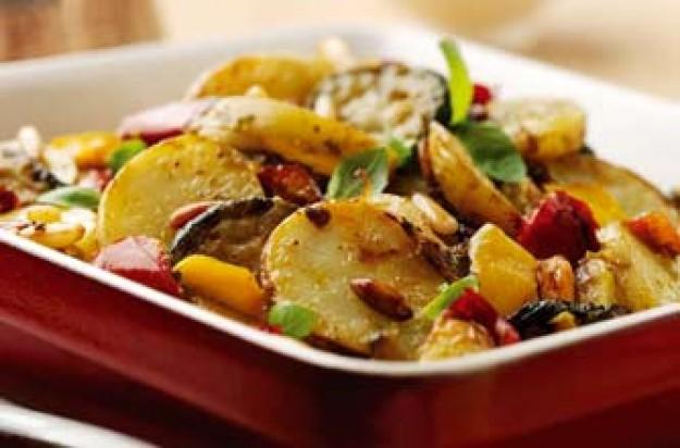 Mediterranean potato and vegetable bake