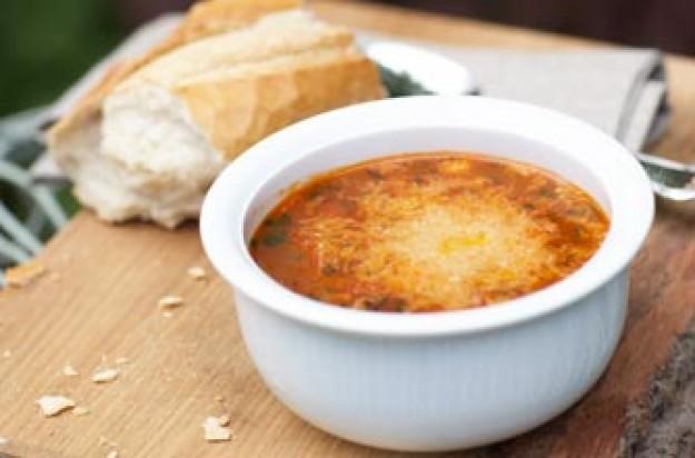Pancetta, faro and bean soup