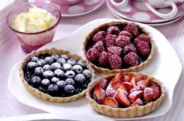 Fresh berry tarts recipe