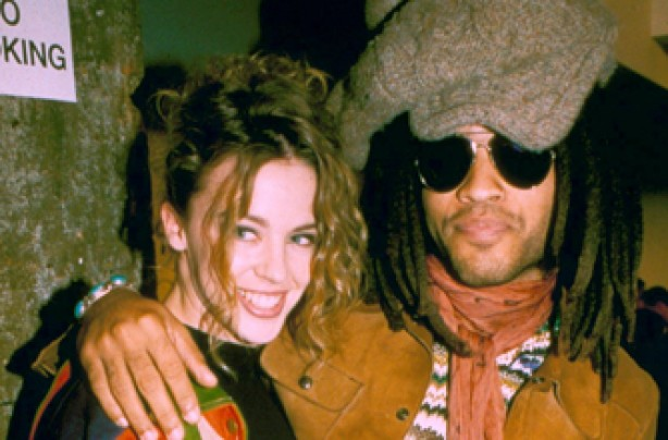 Kylie Minogue and Lenny Kravitz