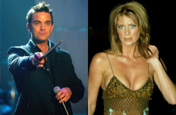 Robbie Williams and Rachel Hunter
