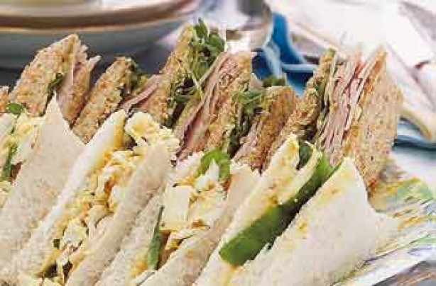 Woman's Weekly ham and Tewkesbury butter sandwiches