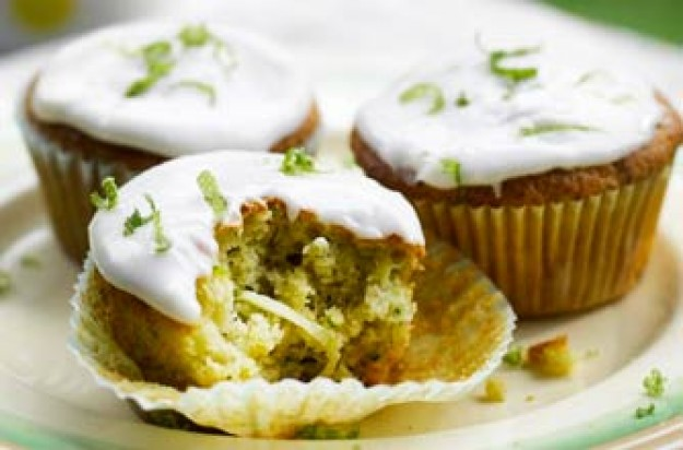 Courgette and lime muffins recipe