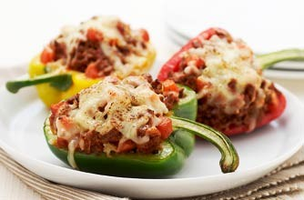 Bolognese stuffed peppers with cheese recipe - goodtoknow