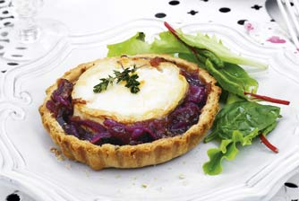 Goat's cheese and caramelised onion tarts recipe - goodtoknow
