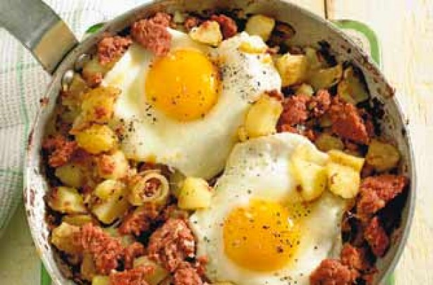 Woman's Weekly hash 'n' eggs recipe