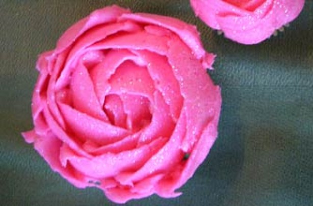 Sparkly Pink Cupcake Flowers