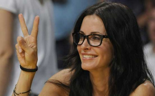 Courteney Cox, make-up, no make-up,