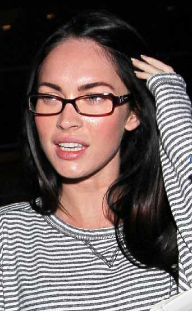 Megan Fox, make-up, no make-up,