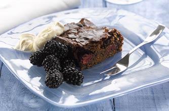 Ed Baines' chocolate and blackberry slice recipe - goodtoknow