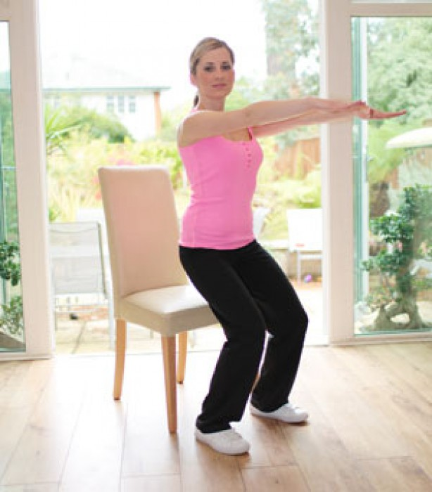 Leg exercises: Chair squat