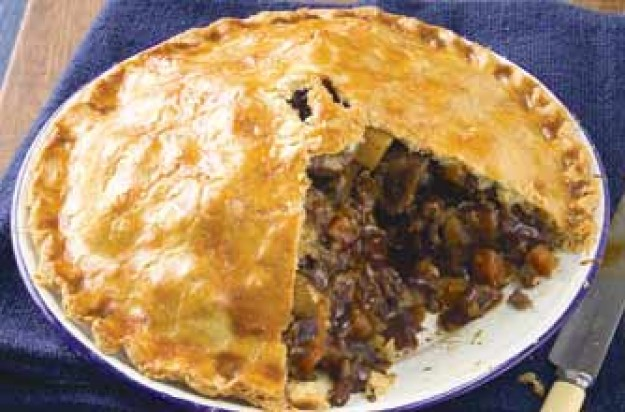 A classic steak and kidney pie