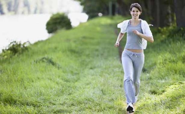 Leg exercises - a woman running