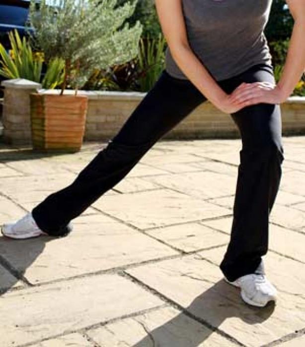 Leg exercises - inner leg stretch