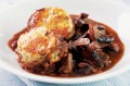 Mushroom cobbler with walnut scones