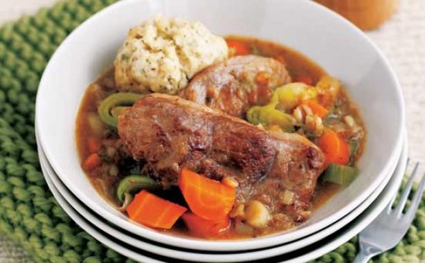 Lamb stew with dumplings