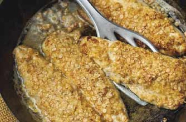 mackerel, oat-coated