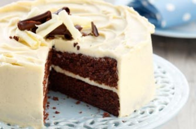 Double chocolate fudge cake with vanilla and white chocolate buttercream, Nielsen-Massey Vanillas