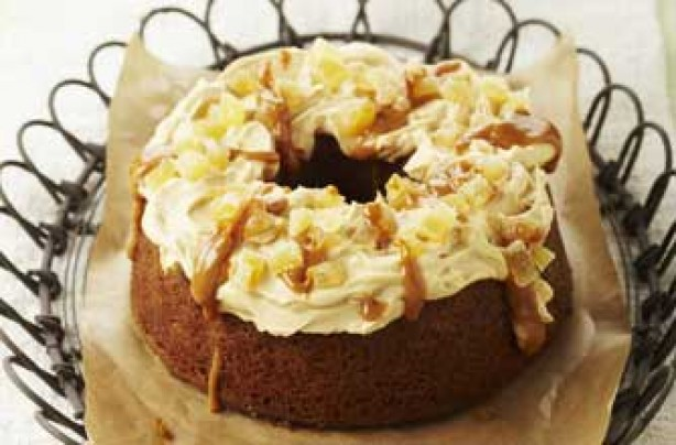 ring cake with squash and spice