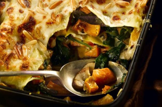 ... butternut squash, spinach and mushroom lasagne recipe - goodtoknow