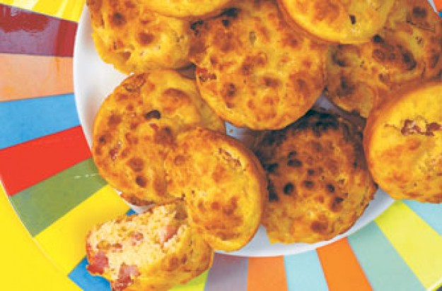 Cheese and ham muffins