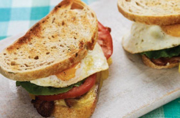 BLT fried egg and cheese toastie