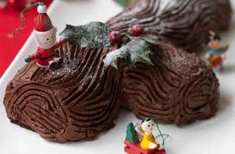 Hairy Bikers' chocolate yule log