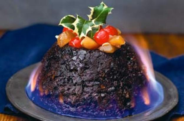 Rum and raisin Christmas pudding