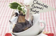 Chocolate-coated caramel fudge