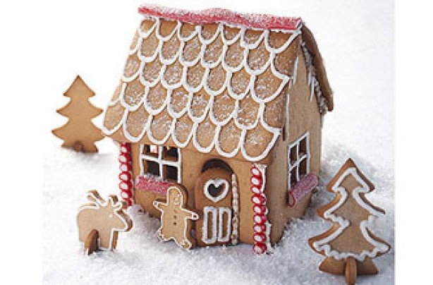 Christmas Biscuits And Cookies Gingerbread House