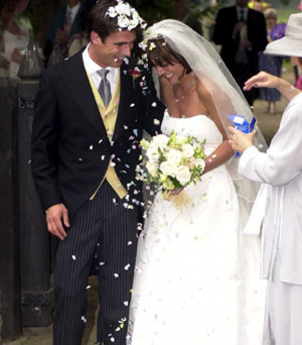 Celebrity weddings: Davina Mccall and Matthew Robertson