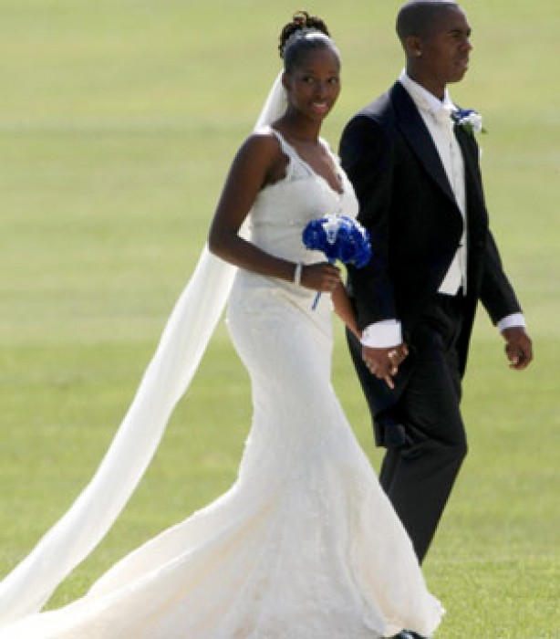 Celebrity weddings: Jamelia and Darren Byfield
