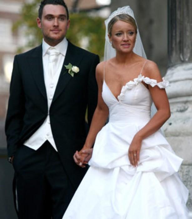 Celebrity weddings: Lucy David and Owain Yeoman